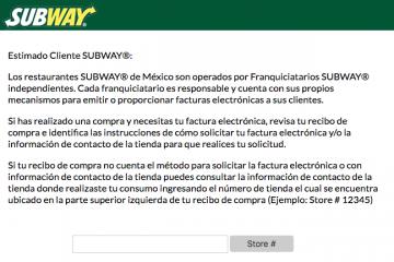 subway factura electronica