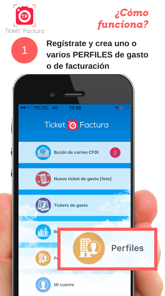 ticket factura como funciona