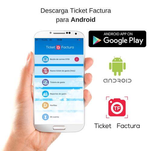descarga ticket factura para android