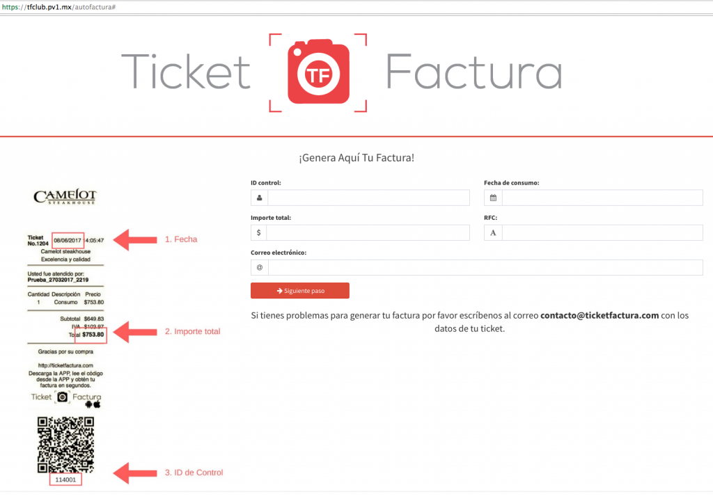 Ticket Factura Autofactura